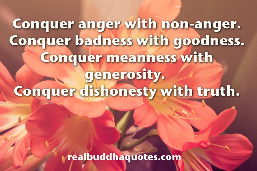 conquer anger with non-anger