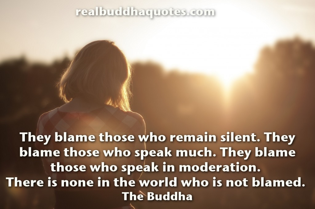 they blame those who remain silent