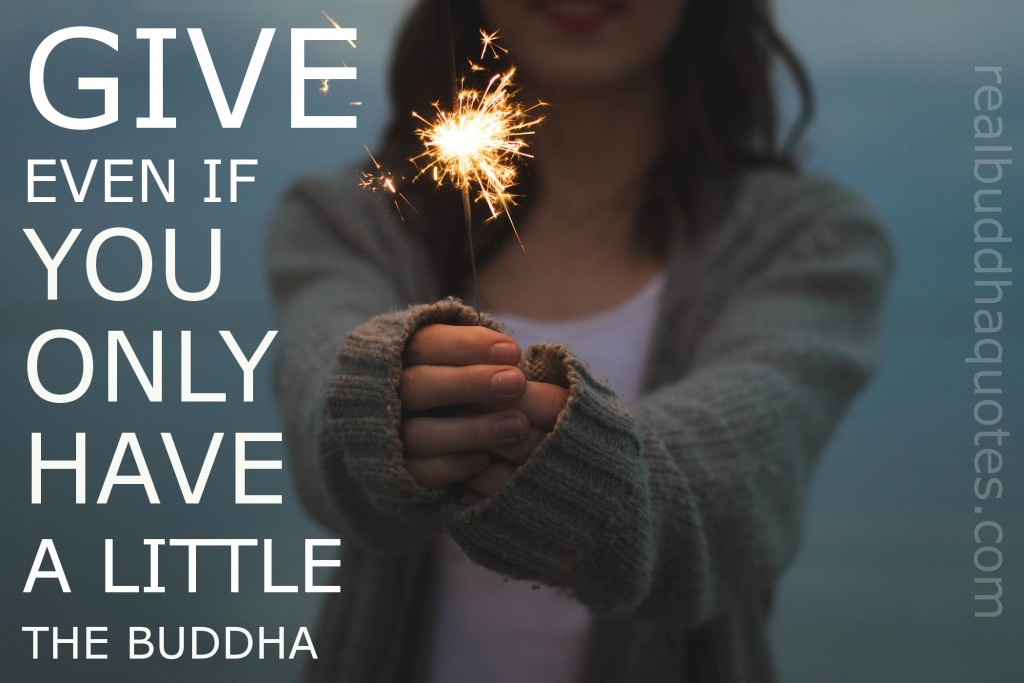 give even if you only have a little