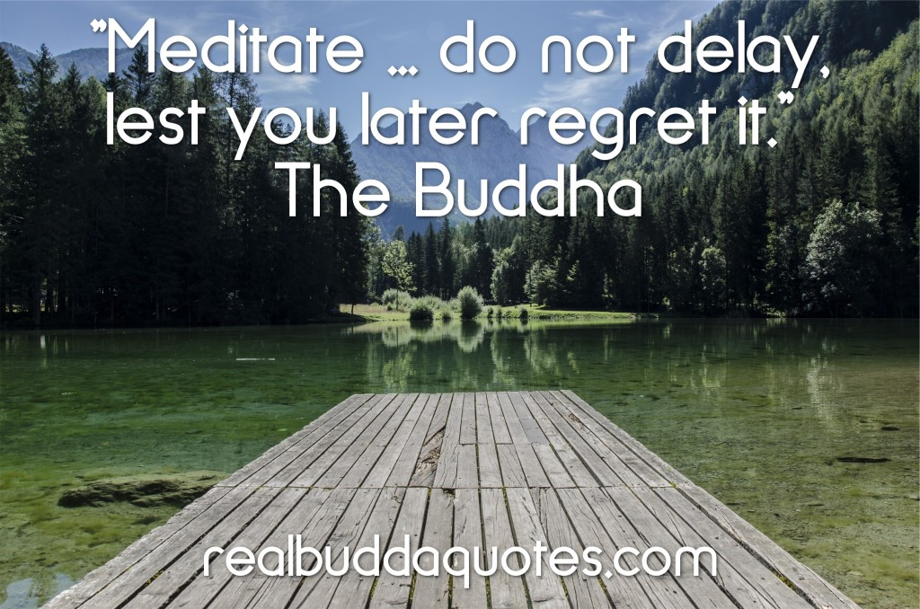meditate do not delay
