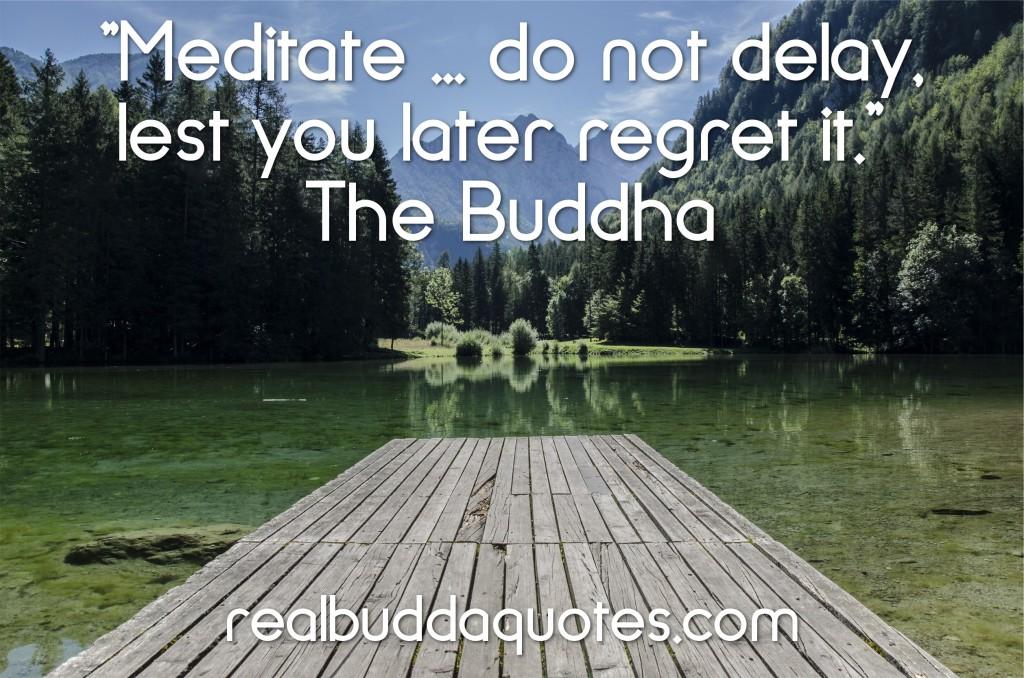 meditate do not delay