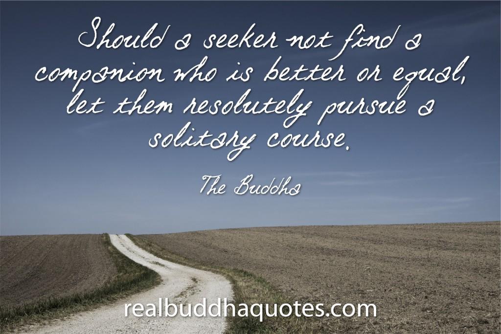 should a seeker not find a companion